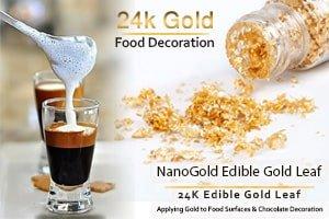 خوردنی های لاکچری با روکش طلا