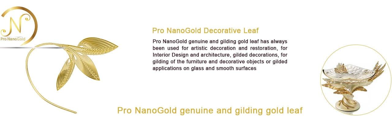 ورق طلا پرو نانو گلد برای تزیین و طلا کاری اشیاء هنری و دکوراسیون داخلی