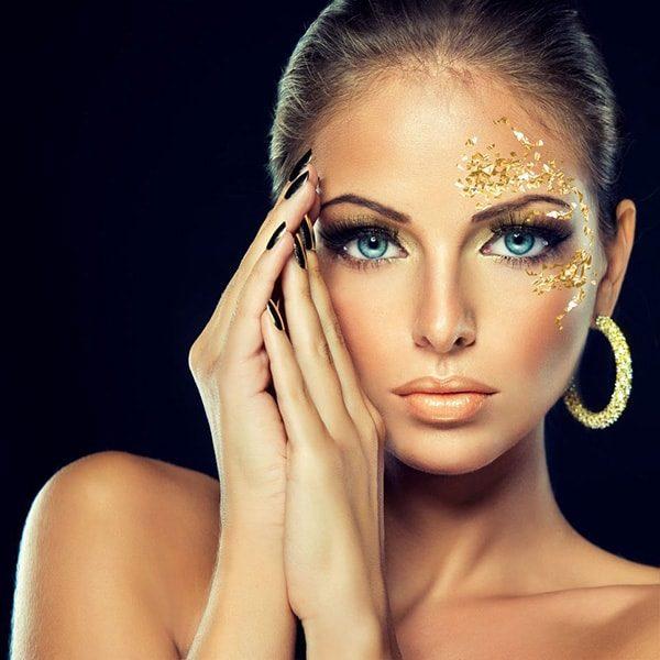 ورق طلا نانو گلد آرایشی بهترین تغذیه پوست با زیبایی لاکچری
