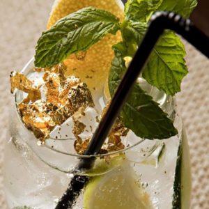 ورق طلا نانو گلد خوراکی برای تزیین انواع نوشیدنی های لاکچری