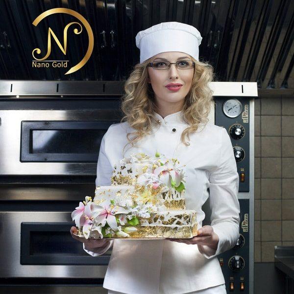 ورق طلا نانو گلد خوراکی جهت تزیین کیک و شیرینی جات