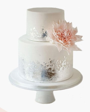 NanoSilver Edible Leaf Decoration Cake